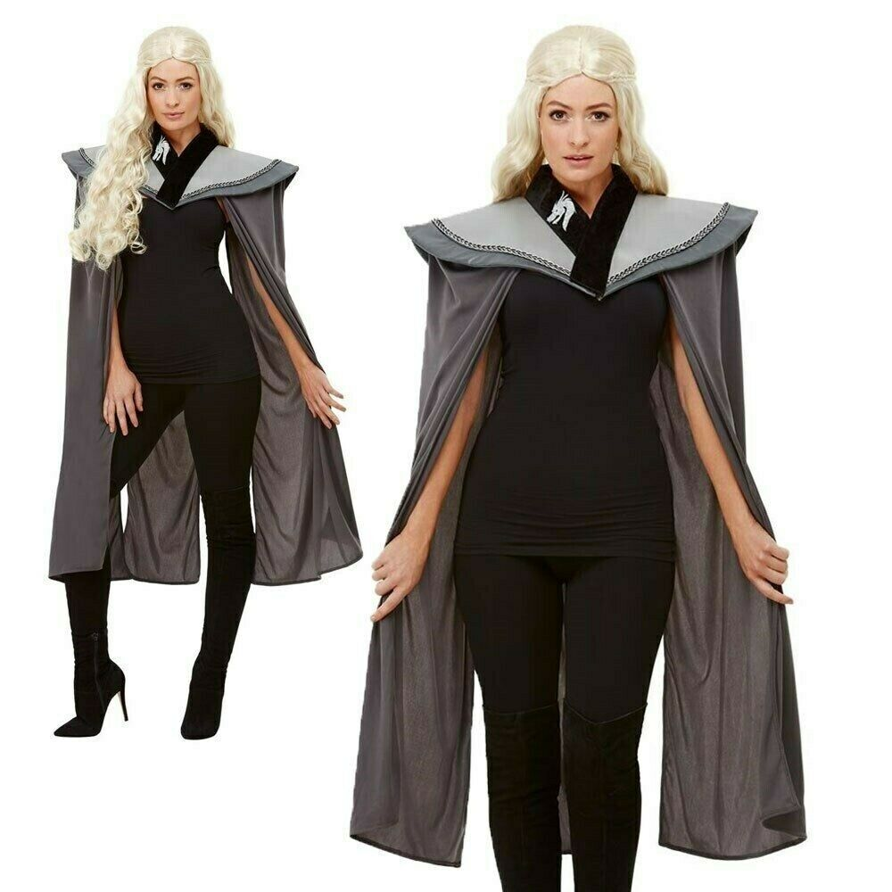 Game of Thrones Ladies Medieval Cape Dragon Princess Adults Fancy Dress Outfit