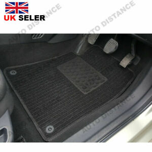 Tailored-Quality-Black-Carpet-Car-Mats-With-Heel-Pad-1993-2002-Nissan-Micra