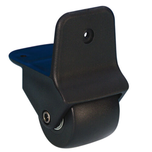 50 mm Kanten-Aufbaurolle schwarz, Bock-Rollen Anbaurolle Rollen Adam Hall 3780