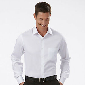 5 MENS PREMIUM WHITE DRESS SHIRTS 100 % COTTON NEW IN PACKAGE 15 1 ...