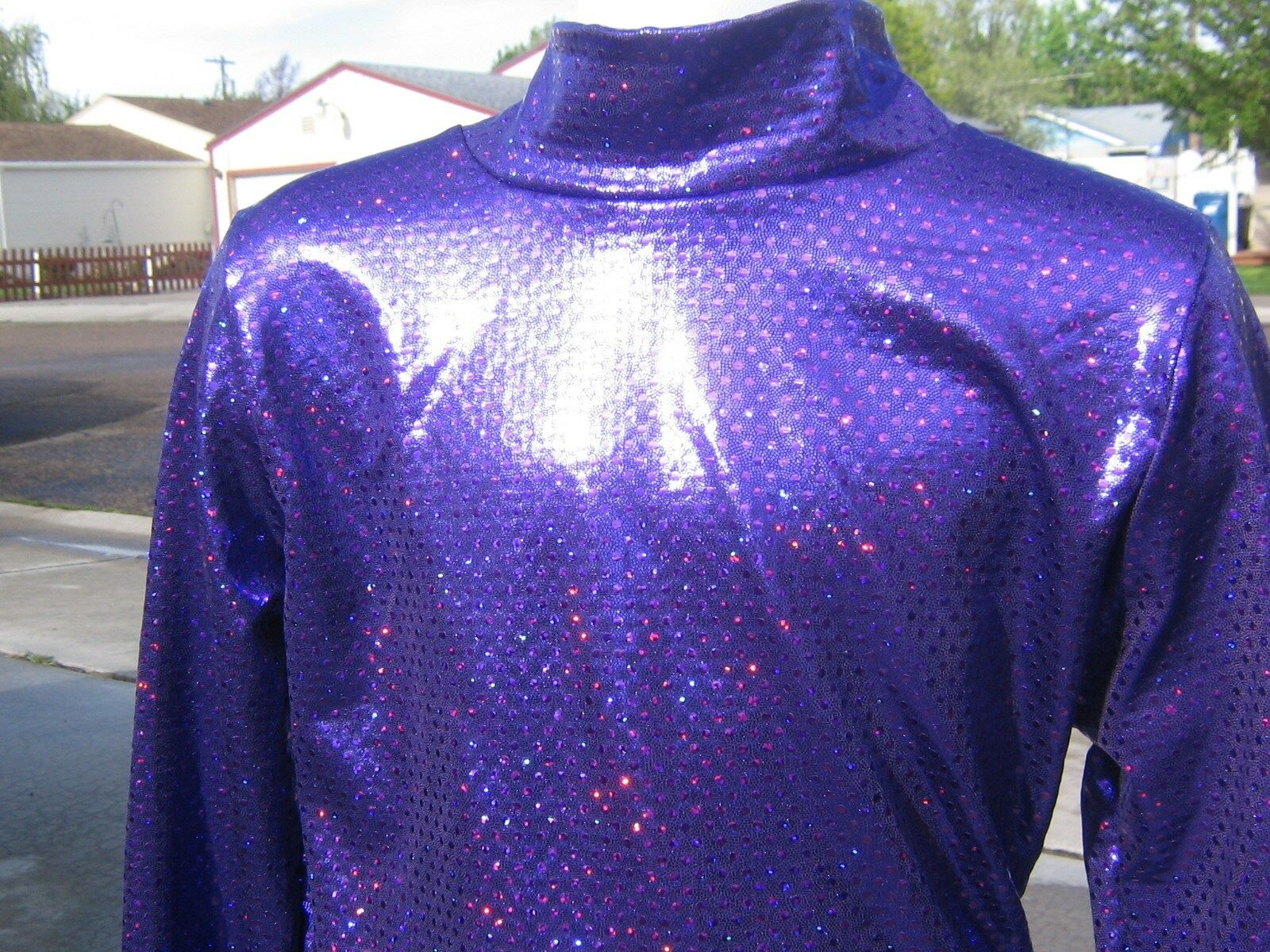 5 girl sizes PURPLE shine  western show rail shirt leadline trail xs S M L XL