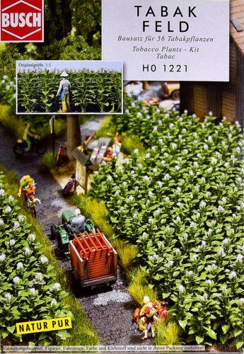 Busch 1221 Bausatz Tabakfeld mit 56 Tabakpflanzen