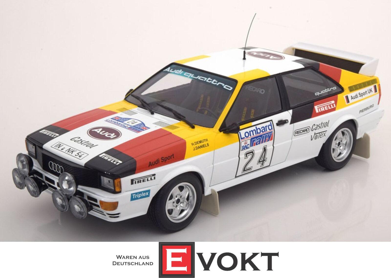 80% di sconto 1 18 Minichamps Audi Quattro   24 24 24 Lombard Rtuttiy 1982 Demuth   Daniels  sconto online di vendita