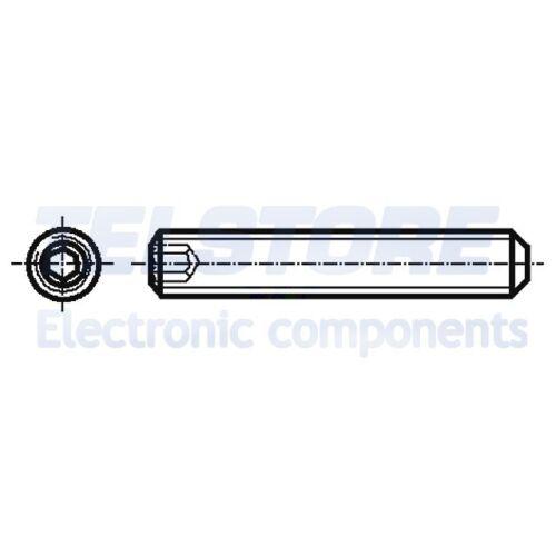 100pcs  Vite M2x4 Testa senza testa Incisione brugola esagonale acciaio BOSSARD