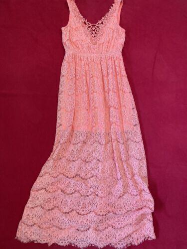 Nikibiki Coral Rayon Blend Lace Maxi Dress Women's