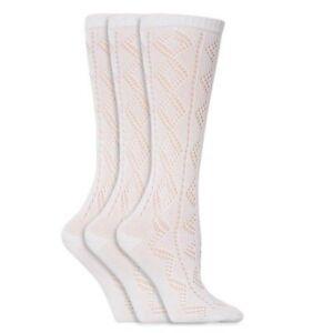 3-Pairs-Girls-Pelerine-Knee-High-White-School-Socks-all-sizes