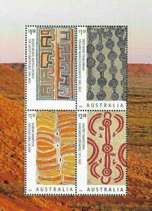 """Australia--MAJOR ERROR MISSING """"AUSTRALIA """"Art of the Desert min sheet mnh 2020"""