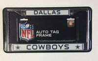 Dallas Cowboys Chrome Metal License Plate Frame - Auto Tag Holder -