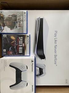 Sony PS5 Blu-Ray Edition Console GameStop Bundle - White