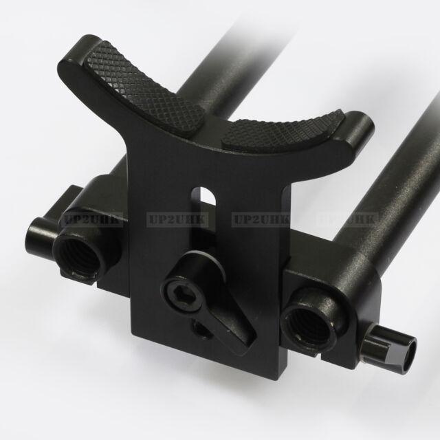Lens Support Rail Block 15mm Rod Clamp fr DSLR Rig Rigs Rail System Follow Focus