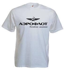 2019 DernièRe Conception T-shirt Aéroflot, Aviation Russe, Pilote, Aéronautique, Aviateur S,m, L, Xl Neuf Vente D'éTé SpéCiale