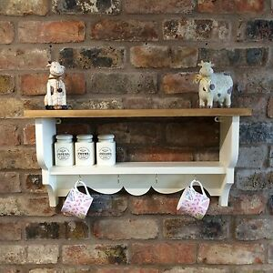 Image Is Loading Shabby Chic Country Kitchen Cabinet Shelf Unit Wall