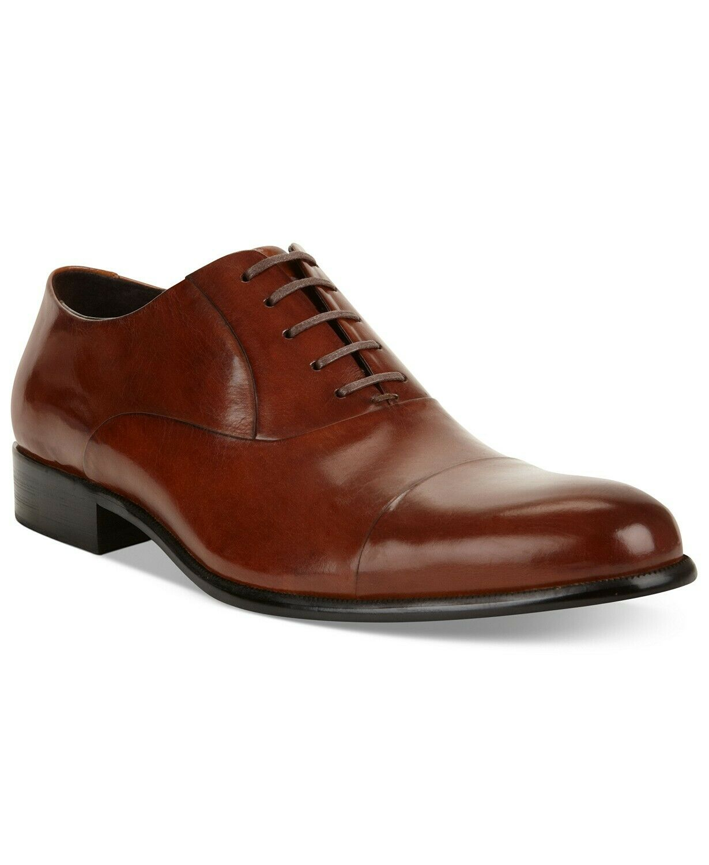 Kenneth Cole New York Men's Chief Council Oxford Shoes Cognac Size 9.5 M