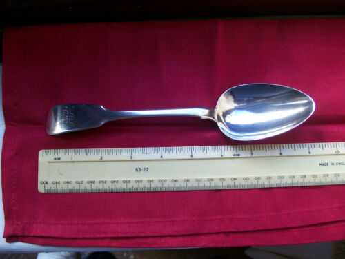 1826 IRISH Antique Solid Silver Rat tail Serving Spoon by SMITH & GAMBLE,DUBLIN.