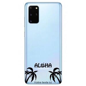 Coque Galaxy Note 10 LITE palmier aloha noir personnalisee