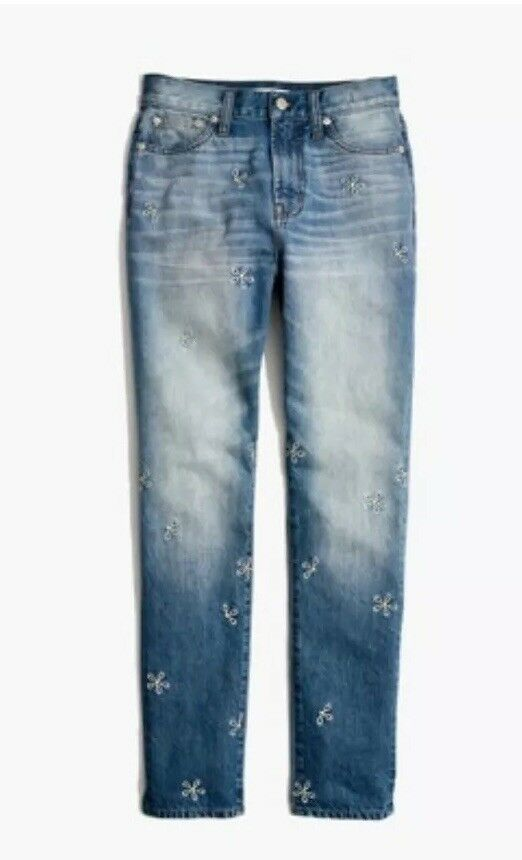 MADEWELL The Perfect Summer Jean   Daisy Embroidered Edition Size 32 H5814