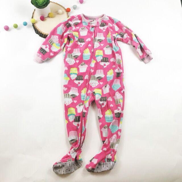 CARTER S Pink Princess Monkey Polka Dot Fleece Blanket Sleeper Girls ... b8ae4e082