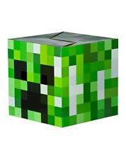 """MINECRAFT CARDBOARD BOX HEAD! CREEPER GREEN BLOCK COSTUME JINX MOJANG 12"""" BNIB"""