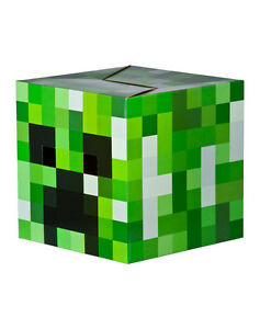 Image is loading MINECRAFT-CARDBOARD-BOX-HEAD-CREEPER-GREEN-BLOCK-COSTUME-  sc 1 st  eBay & MINECRAFT CARDBOARD BOX HEAD! CREEPER GREEN BLOCK COSTUME JINX ...