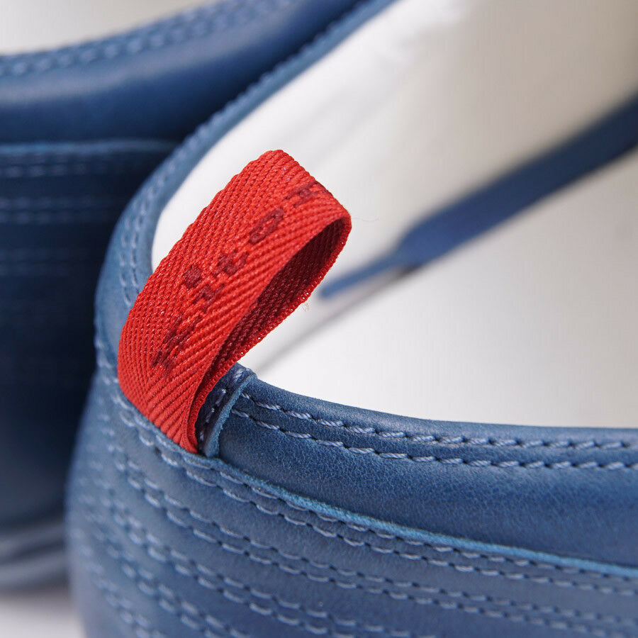 Nib Bleu Kiton Napoli Bleu Nib Cuir Délavé Baskets Low-Top Us 8 (It 7) Chaussures 27b182