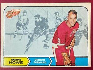 Gordie Howe 1968-69 O-Pee-Chee #29 Creases