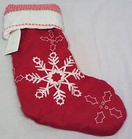 Pottery Barn Kids Snowflakes Quilted Stocking