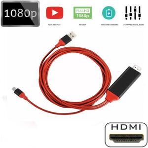 1080P Lightning To HDMI Digital TV Cable Adapter 2M for iPad/iPhone Xs Mas X 8 7
