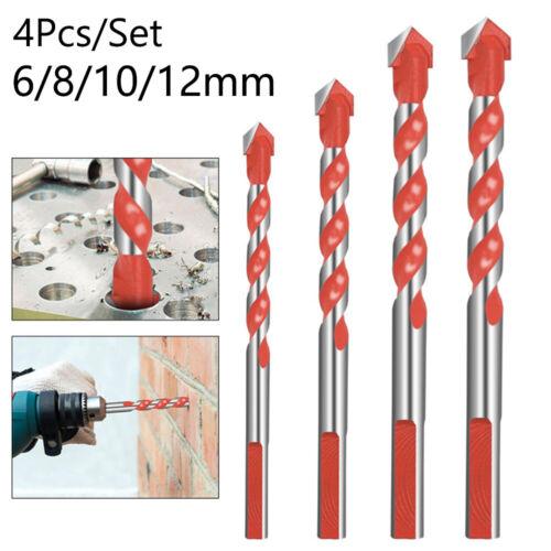 4PCS//set Triangular Handle Drill Bits Multifunction Ceramic Metal Bit 6-12mm New