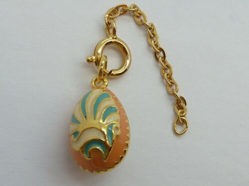 Choice of JOAN RIVERS ENAMEL EGG CHARM with EXTENDER CHAIN SPRING RING