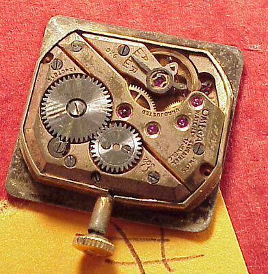 Vintage #R Omega 302 Mens WristWatch Movement 4 Parts Repairs 22mmx 23mm dial