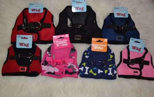 1 HARNESS NWT DOG SOFT HARNESS MALE FEMALE PINK RED NAVY BLUE BLACK XS S M