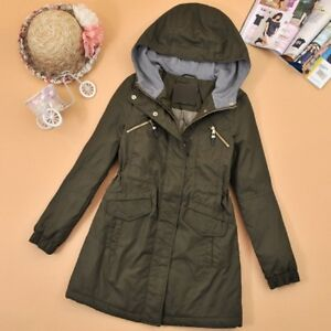 Das Bild wird geladen Damen-Winterjacke-Warm-Mantel-Jacke-Parka-Kapuze-Coat- 3b168ab948