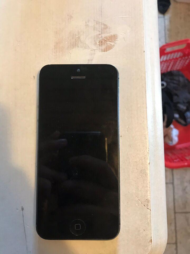 iPhone 5, 8 GB, sort