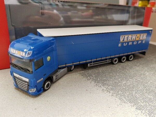 1 87 Herpa DAF XF SSC Lowliner semi-remorque Verhoek NL 308229