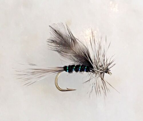 12 FLIES X SIZE #12 TROUT FLY FISHING DRY FLIES CALIFORNIA MOSQUITO