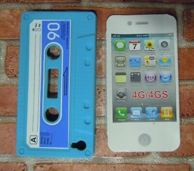 Custodia per Apple iPhone 4 4G 4S Pouch AZZURRA Cover Case