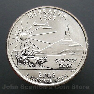 2006-D NEBRASKA GEM BRILLIANT UNCIRCULATED STATE QUARTER~FREE SHIPPING INCLUDED~