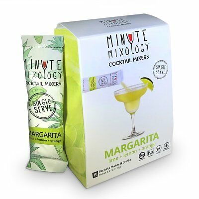 Minute Mixology MARGARITA Cocktail Mixers Packet Single Serve 8 Mix Packets