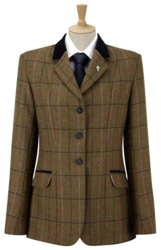 Caldene Bexley Girls Tweed Jacket -Green 26