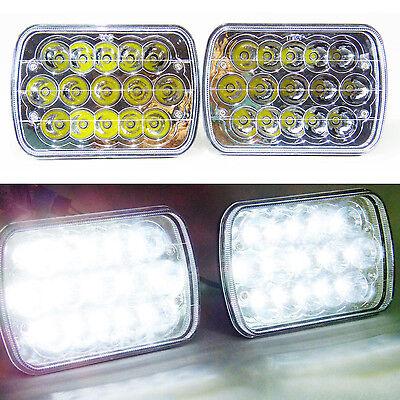 New Generation LED Headlamps Headlights (LH / RH) Rectangle HID 6000K Color