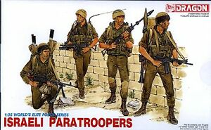Dragon-1-35-3001-Israeli-Paratroopers-World-039-s-Elite-Force-Series-4-Figures