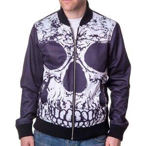 Reverse Jacket Punk Skull Reversible Jacket Skull Bomber Banned Ribcage Bone wIXBqS