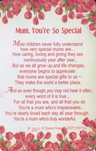 Keepsake Wallet Card Sentimental Verse Family Gift Birthday Present Cards Love