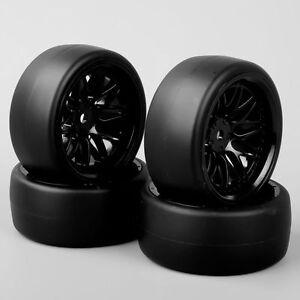 HobbyGo Set of 4 For 1:10 RC Speed Drift Racing Car Tires Wheel RimHSP HPI BBNK
