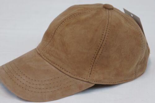 100/% REAL GENUINE Lambskin Suede Leather Baseball Cap Hat Sport Visor 9 COLORS