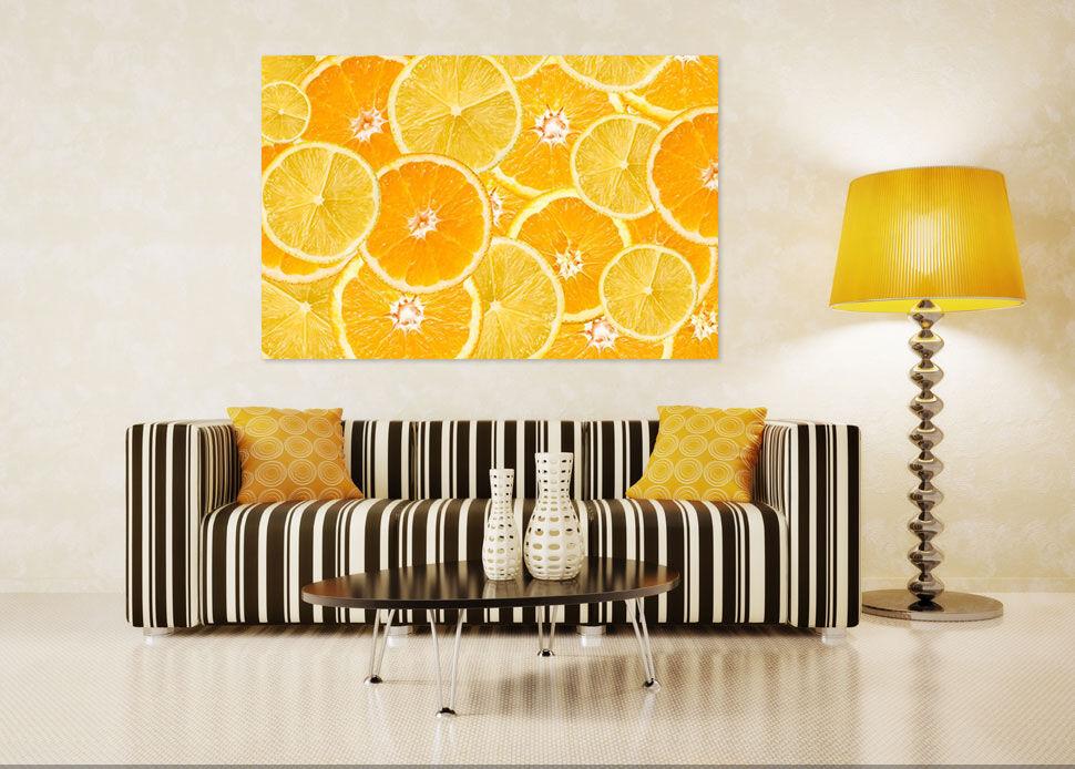 3D Goldener Orangenscheiben 83  Fototapeten Wandbild BildTapete AJSTORE DE Lemon
