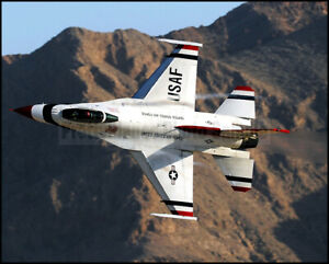 USAF-Thunderbirds-F-16-Fighting-Falcon-Close-Up-2010-8x10-Photos