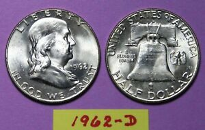 1962 BEN FRANKLIN SILVER HALF DOLLAR IN PROOF