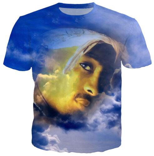 Tuge Life Singer Tupac 2PAC Women Men T-Shirt 3D Print Short Sleeve Tee Tops