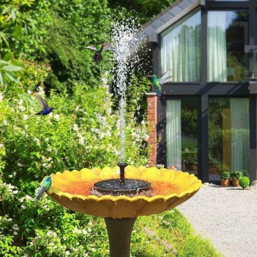 Solar Powered Water Pump Floating Bird Bath Fountain Outdoor Garden Pond Pool.